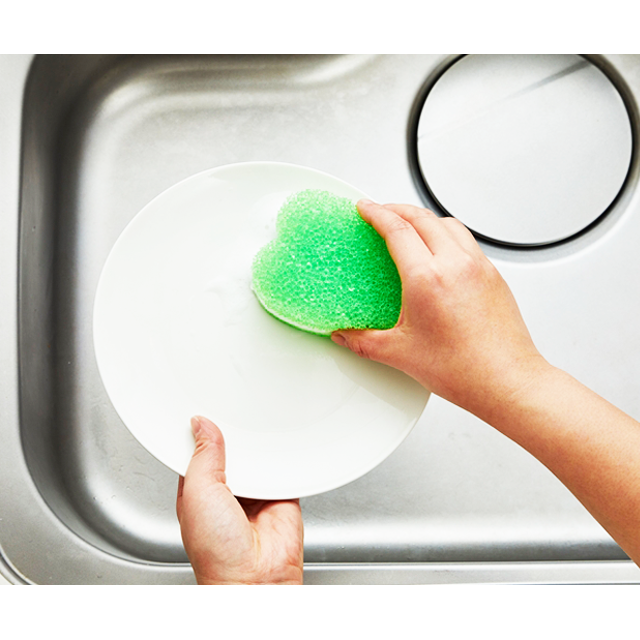 kf111_キッチンクリーナーソフト グリーン 洗い物