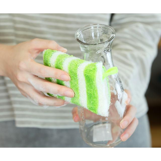 ks121_キラピカスポンジ 洗い物 瓶
